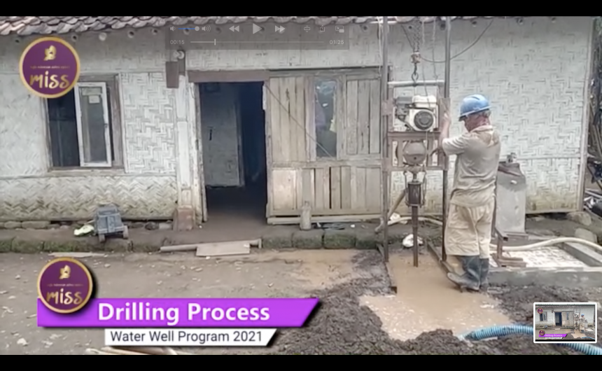 Building water well